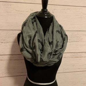 Mustache print infinity scarf